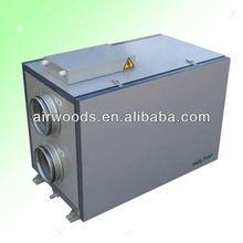 Techo de ventilación con recuperación de calor de aire fresco, 90% de eficiencia, ventilador EC