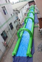Hot selling commercial slip n slide 1000 ft slip n slide inflatable slide the city for sale