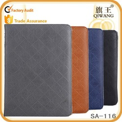 smart dormant case for ipad 5, genuine leather ultra-thin tablet case for ipad mini