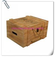 6 Bottle hinged Wooden Wine Case YIXING3897