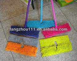 New popular double sides microfiber telescopic flat dust mop