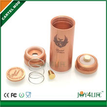 Alibaba china supplier stock offer mechanical mod Copper/Brass/Stainless steel Cartel mod