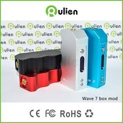 single 18650 battery wave 7 mini box mod 50w/ 70w electronic cigarette new design mini 50w/70w box mod Wave 7 in stock