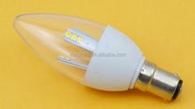 LED Candle bulb 3W B15 E12 smd2835 500lm cool/warm white AC110V/220V C37 led lighting