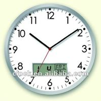 Digital Wall Clock with LCD display day