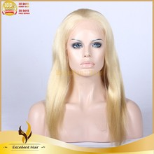 2015 New fashion Hot selling platinum blonde full lace wig good quality competitive price platinum blonde full lace wig