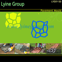 Lyine concrete cement pathway walk pattern paving plastic garden sidewalk wholesale paving stones