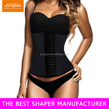 body shape underwear of waist training corsets with 100% natrual rubber material and memory alloy steel boned