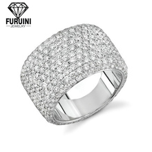 fashional beatiful Sterling Silver Eternity Pave CZ Ring