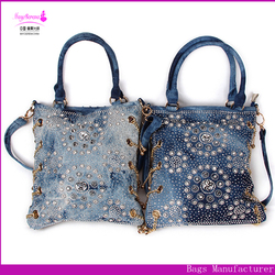 Hot selling shoulder bag New Korea Style Lady Large Zippered Canvas Casual Tote Shopping Shoulder Bag