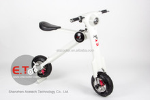 2015 new fashion ET folding electric bicycle/ adult tricycle/48v 10.4ah electric bike li ion battery