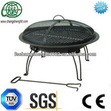 "Fire Sense 22"" Folding Portable Outdoor Patio Fire Pit Fireplace NEW cooking grate and hand bag are available"
