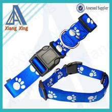 Paw print dog harness and collar set