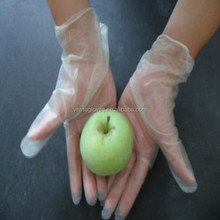 Hot sale clear and blue disposable vinyl gloves used food hospital
