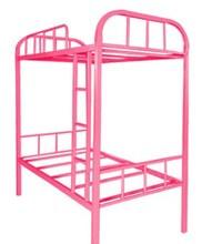 Lovely girls metal frame pink bunk bed