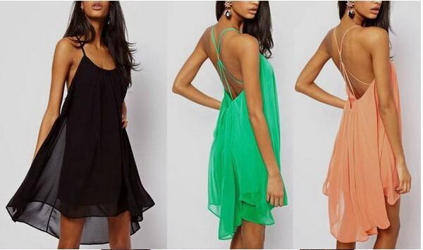 plNew Лето Женская одежда платья сексуальный спагетти ремень недоуздок спинки шифон пляж платье vestidos