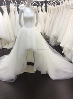Mordern Strapless Short Front Long Back Lace-Up Women Bridal Gown Cheap Wedding Dresses Made in China A006