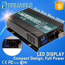 CE EMC approved 12v to 230v 2000w pure sine wave power inverter with LED display