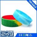 2015 1 pulgadas personalizado pulsera pulseras de silicona