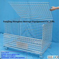 Stackable Storage Wire Grid Mesh Cage