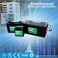 EverExceed 12v 200ah rechargeable dry cell solar battery