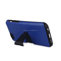 Alibaba express low MOQ TPU PC Kickstand Cell phone accessories for iPhone 6 case