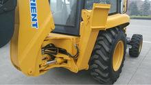Front End Fork Auto Mini Wheel backhoe loader for Sale , Wheel Loader for construction