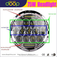 Truck Offroad ATV 7'' Inch 12V 24V Flood Combo DRL Three in one Light 75W LED Work Light