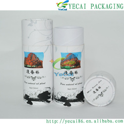 Hot selling black container with printing/logo/label paper tube for wholesales