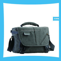 Camera Canvas Bag with grey and Kakki color