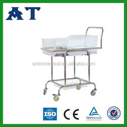Hospital Powder Steel Hospital Baby Furniture Round Cribs