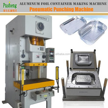 Making machines with punching mold for Aluminum foil take away food container and plate