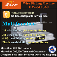 MF360 4 in 1 book mahcine wire / comb/ plastic coil / spiral metal binding