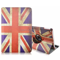 Tablet case super slim country flag pu leather 360 rotating case for ipad mini 4 , for ipad mini 4 leather case rotating
