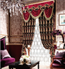 Modern classic chenille jacquard curtain with attach valance