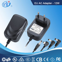 EU plug TUV-GS 12v dc 1a power supply with Micro USB 5pin