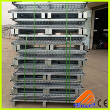 free designed top quality metal wire mesh container,stackable warehouse storage cage,heavy duty storage bin