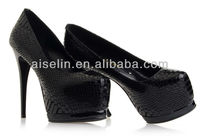 Women aligator shoes high platform cheap women heels designers good quality with factory price