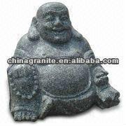 happy buddha carving