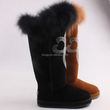 2015 classic hot sale snow boots100% fur High fashion warm cheap boots factory high quality