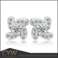 CYW wholesale indian jewelry earring popular accessories 2015 earrings imported from china cheap s925 silver earring