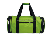 Two-tone Polyester Travel Duffle Bag Lady's Travel Sport Bag Cheap Retro Pro Duffle Bags