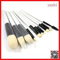 YASHI 10pcs Pro White Makeup Brushes Powder Eyeshadow Blush Brush Tool