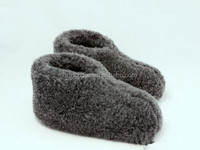 Winter Women & Girls Closed-heel Indoor Wool Slipper Boots Wool Home warm Slippers Quite Floor Sliper Handmade Grey