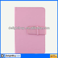 pink Folio Leather Case for 10 Tablet PC W/ Stand