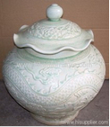Chinese Antique furniture Antique chinese carved jar