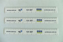 High Quality Plastic ruler OEM logo design colorful printing plastic ruler 32 cm size