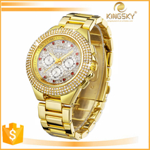 newest fancy big face diamond bracelet watch manufacturers in china