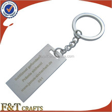 china custom rectangle shape metal personalized name keychains