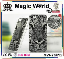 top quality fashion print tiger plastic phone case for iphone 5s